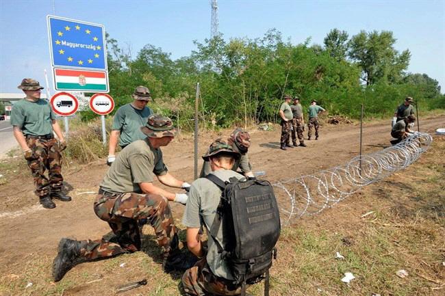 Bildergebnis für Ungarn grenzzaun mit strom bilder